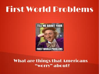 First world vs. third world problems
