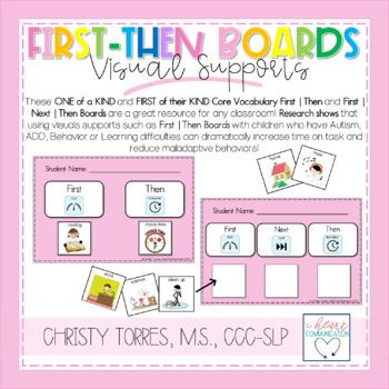 First/Then & First/Next/Then Behavior Management Boards wi