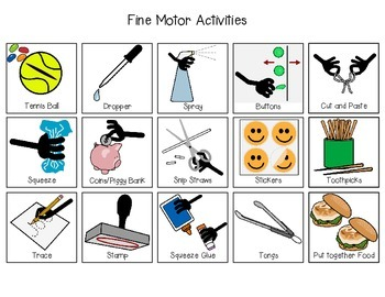 First/Then Visual Schedule- Fine Motor Activities