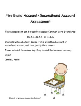 Firsthand Account/Secondhand Account Assessment