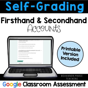 Firsthand & Secondhand Accounts Assessment