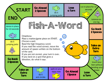 Fish-A-Word Game : Dolch Words
