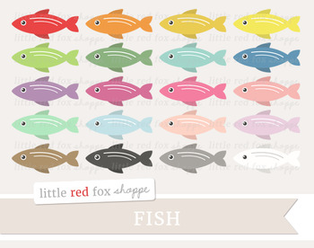 Fish Clipart; Animal, Ocean, Beach