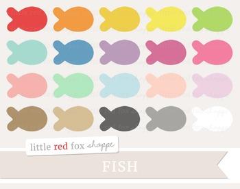 Fish Clipart; Ocean, Sea, Goldfish