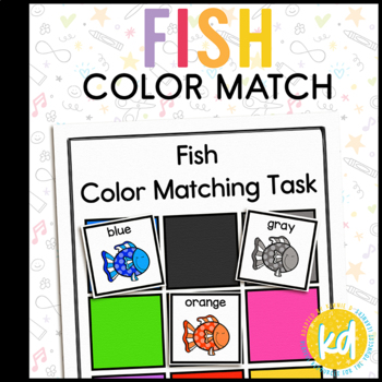 Fish Color Matching Folder Game for Early Childhood Specia