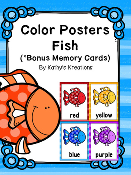 Fish Color Poster And Memory Cards