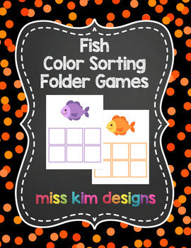 Fish Color Sorting Folder Game for Early Childhood Special