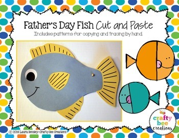 Father's Day Fish Cut and Paste