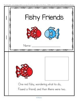Fish Emergent Reader Cut and Paste FREE