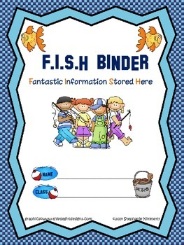 Fish {Fishing} Binder Cover