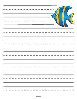 Fish Lined Paper - Primary
