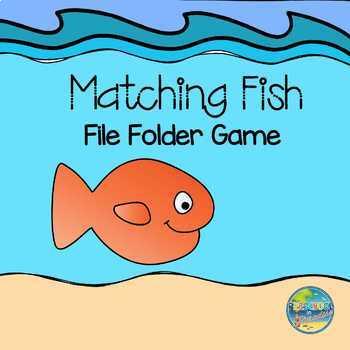 Fish Matching File Folder Game