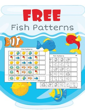 Fish Patterns: Free Cut and Paste Pattern Practice