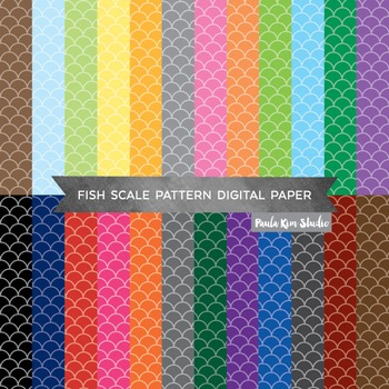 Fish Scale Pattern Digital Paper