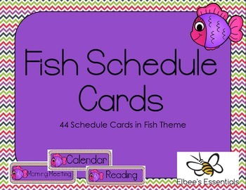 Fish Schedule Cards 2