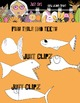 Fish Tails and Teeth - Clip Art