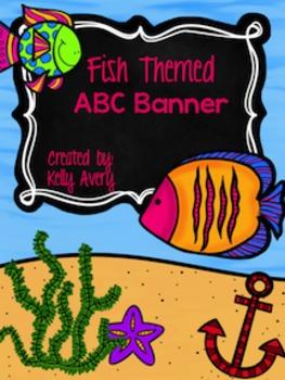 Ocean Themed ABC Banner