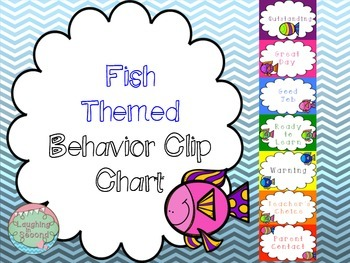 Fish Themed Behavior Clip Chart