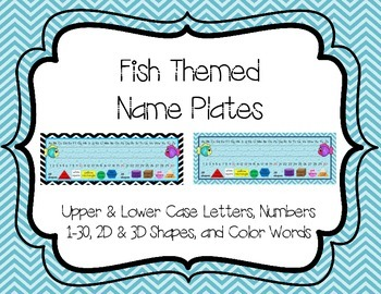 Fish Themed Name Plates