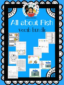 Fish - Vocab Bundle and Literacy Centers - ESL