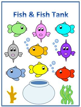 Fish and Fish Tank Clipart