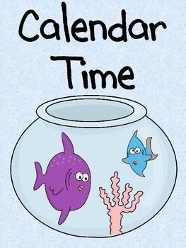 Fish and Polka Dots Calendar Kit