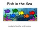Fish in the Sea COLOR Adapted BOOK, Speech Therapy, Autism