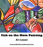 Fish on the Move Painting