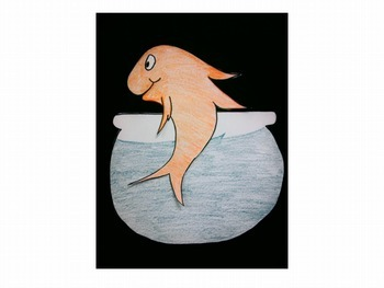 Fish with fish bowl pattern