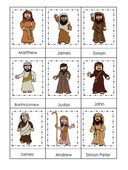Fishers of Men 3 Part Matching printable game. Preschool B