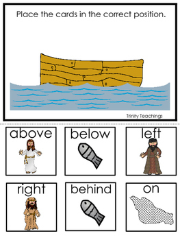 Fishers of Men Positional Game printable game. Preschool B