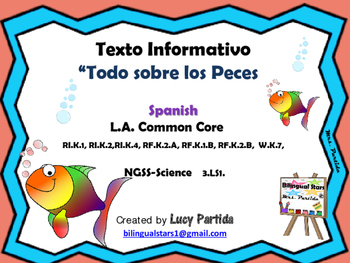 Fishes Peces-Bilingual Stars Mrs Partida