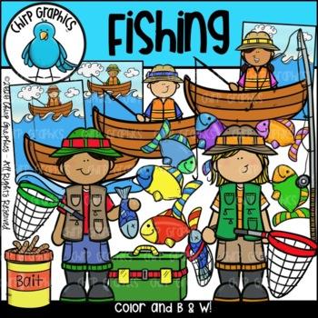 Fishing Clip Art Set - Chirp Graphics