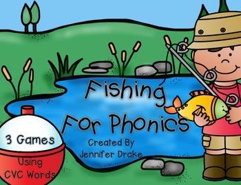 Fishing For CVC Words!  3 Phonics Games/Centers Using CVC