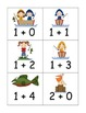 Fishing Friends Addition and Subtraction to Five Game and Board