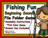 Fishing Fun Beginning Sounds File Folder Game