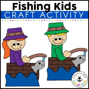 Fishing Kids Cut and Paste