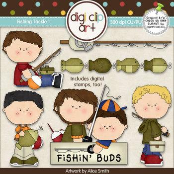Fishing Tackle 1 -  Digi Clip Art/Digital Stamps - CU Clip Art