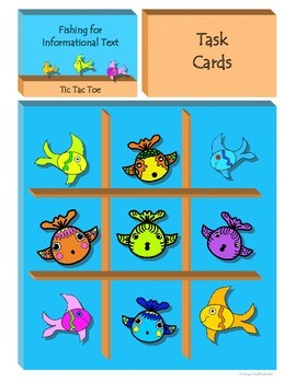 Fishing for Informational Text Tic Tac Toe