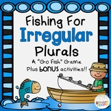 Fishing for Irregular Plurals Game & Bonus Activities