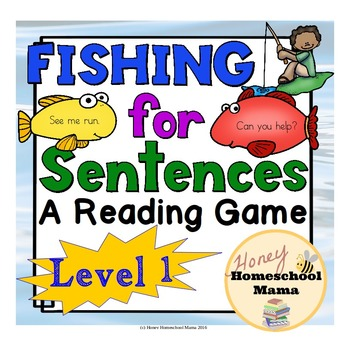Fishing for Sentences - A Reading Game - Level 1 - Short A