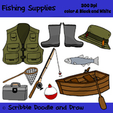 Fishing supplies clip art
