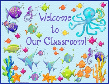 Fishy Classroom Door Sign