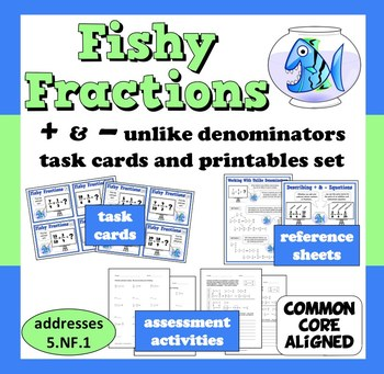 Fishy Fractions - adding/subtracting unlike denominators t