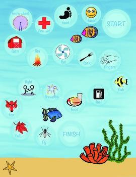 Fishy Fun /F/ Articulation Boardgame