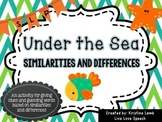 Under the Sea {Similarities & Differences}