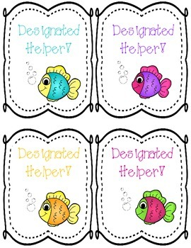 Fishy Helper Tags!