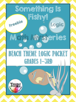 Fishy Math- Logic and Critical Thinking Worksheets Freebie