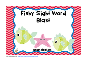 Fish Sight Word Blast FREEBIE