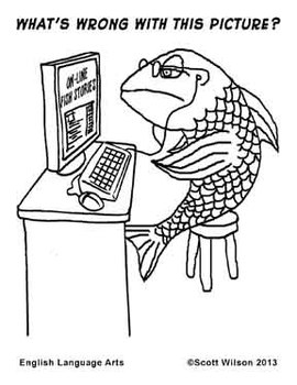 Fishy coloring page